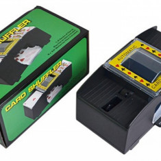 Aparat de amestecat carti de joc, automat, negru, Card Shuffler