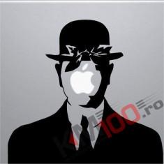 Laptop Vinyl Sticker Rene Magritte Son of Man