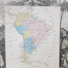 America de Sud, Gravura secol 19