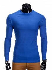 Bluza pentru barbati, din bumbac, albastru, simpla, slim fit - L59 foto