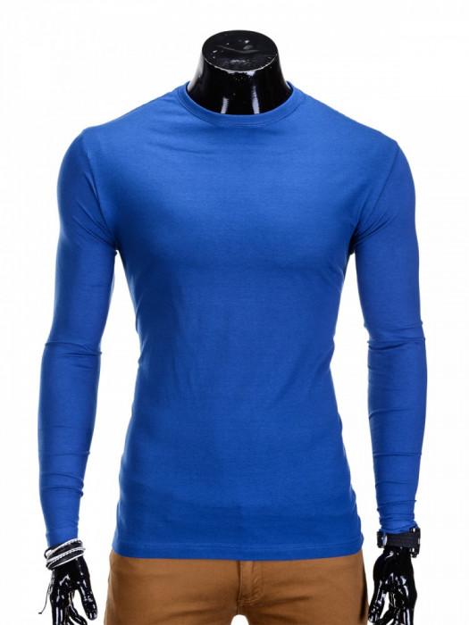 Bluza pentru barbati, din bumbac, albastru, simpla, slim fit - L59