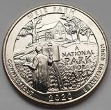 Monedă 25 cents / quarter dollar 2020 USA, Weir Farm, Connecticut, unc, lit. D, America de Nord