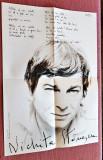Album Memorial Nichita Stanescu. Contine poster-Editat de Viata Romaneasca, 1984, Alta editura