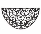 Covoras de intrare Swirls Black 38.3x66.5 cm