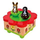 Cumpara ieftin Cutie muzicala din lemn, magnetica - Little Mole - Bino