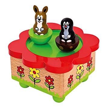 Cutie muzicala din lemn, magnetica - Little Mole - Bino foto