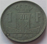 Cumpara ieftin Moneda istorica 1 FRANC - BELGIA, anul 1941 *cod 972, Europa, Zinc