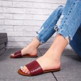 Papuci cu talpa joasa dama visinii Palisa