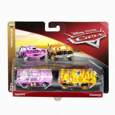Cars, 3 personaje Die Cast pachet 2 masini Tailgate si Pushover