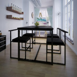 VidaXL Set masă și scaune de bucătărie, negru, 5 piese