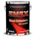 "Grund Poliesteric Antirugina ""Emex"", Rosu, Bidon 4 Kg, Intaritor inclus"