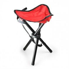 DURAMAXX Scaun portabil pentrutabără, pescuit, 500g, rosu-negru, OneConcept