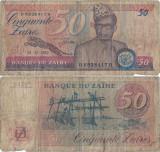 1982 ( 24 XI ) , 50 zaïres ( P-28a ) - Zair