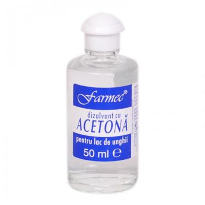 Acetona, dizolvant, pentru curatarea pielii inainte de vopsire, 50ml foto