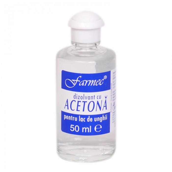 Acetona, dizolvant, pentru curatarea pielii inainte de vopsire, 50ml