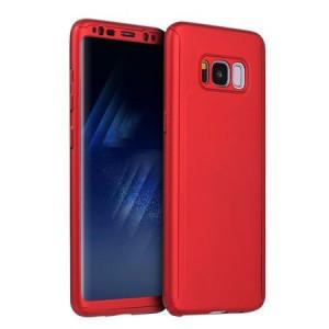 Husa 360° - Samsung Galaxy S8 - Rosu + folie de protectie din silicon cadou