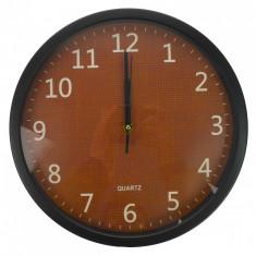 Ceas de perete, maro, diametru 30 cm - CEAS09
