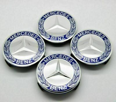 Set 4 Capace Mercedes Benz Blue Classic pentru Jante originale Mercedes-Benz foto