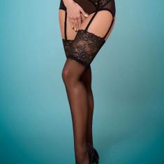 Ciorapi Sexy Cu Dantela, Negru, L/XL