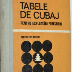 Tabele de cubaj pentru exploratari forestiere - pentru uz intern 1972