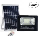 Cumpara ieftin Proiector 25W, LED SMD, panou solar si telecomanda functii multiple.