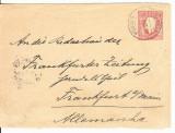Portugal 1891 Postal History, Cover to Frankfurt, Germany D.053