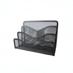 Suport pentru plicuri metalic mesh Forpus 30566 negru