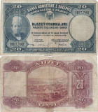 1926 ( 28 II ) , 20 franka ari ( P-3a ) - Albania