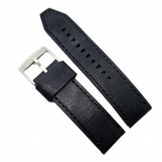 Curea de ceas FOSSIL din piele naturala neagra pentru ceas TI1005 - 24mm
