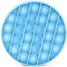 Jucarie Senzoriala Antistres Pop It Now Push Bubble Round Albastru