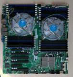 Placa baza server Supermicro X9DR3-LN4F+,2x procesor E5-2667, 32gb RAM