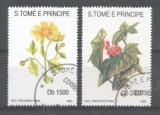 Sao Tome e Principe 1992 Flowers, high values, used G.116
