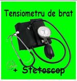 Tensiometru Mecanic, Stetoscop, Aneroid, Geanta Depozitare