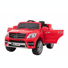 Masinuta electrica Premier Mercedes ML-350, 12V, roti cauciuc EVA, scaun piele ecologica, rosie