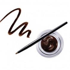 Gel Contur de Ochi cu Pensula Ultra Rezistent Ushas Gel Eyeliner Maro