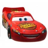 Disney Cars 2 - Lightning McQueen cu roti de curse Rusteze, Mattel