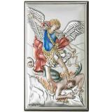 Icoana Argint Arhanghelul Mihail 12×20 cm Color COD: 2751