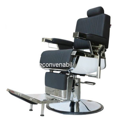 Scaun Salon Frizerie Coafor Reglabil Rotativ David2 3308 Negru foto