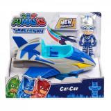 Masinuta cu figurina Pj Masks Save The Sky, Cat-Car 95821
