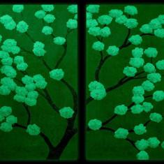 Set tablou 2 piese fosforescent Cires oriental