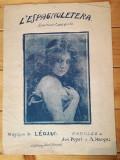 Partitura veche circa 1890-1910