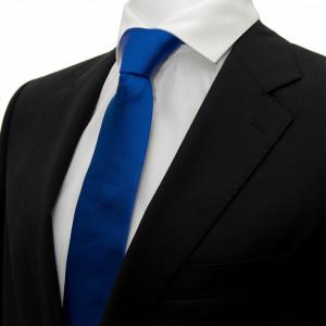 Cravata albastra lata Voltaire