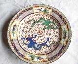 FARFURIE DIN PORTELAN,DECORATA MANUAL, MODEL CHINEZESC L3