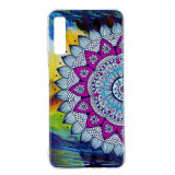 Cumpara ieftin Carcasa Husa Samsung Galaxy A7 2018 Model Mandala, Fosforescent, Antisoc + Folie sticla securizata Samsung Galaxy A7 2018 Tempered Glass Viceversa
