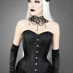 Choker negru Victorian Burlesque