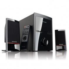 Boxe Microlab M-700U 2.1 46W, SD-card, USB, Tuner FM, Desigilat