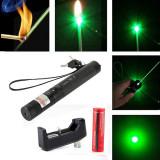 Laser Pointer Verde 303 Proiectie stele 3D Lanterna Laser + Incarcator