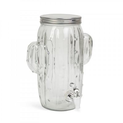 """Dozator bauturi cu robinet, sticla, model """"Cactus"""" - 3,6 l Best CarHome foto"""