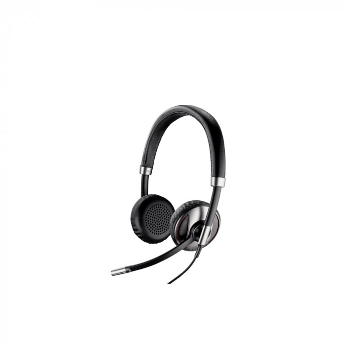 Casca Call Center Plantronics BLACKWIRE C720-M, USB, Microsoft Certified, Binaural, Smart Sensor