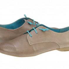 Pantofi piele casual femei Tamaris Boyfriend bej 12320922341